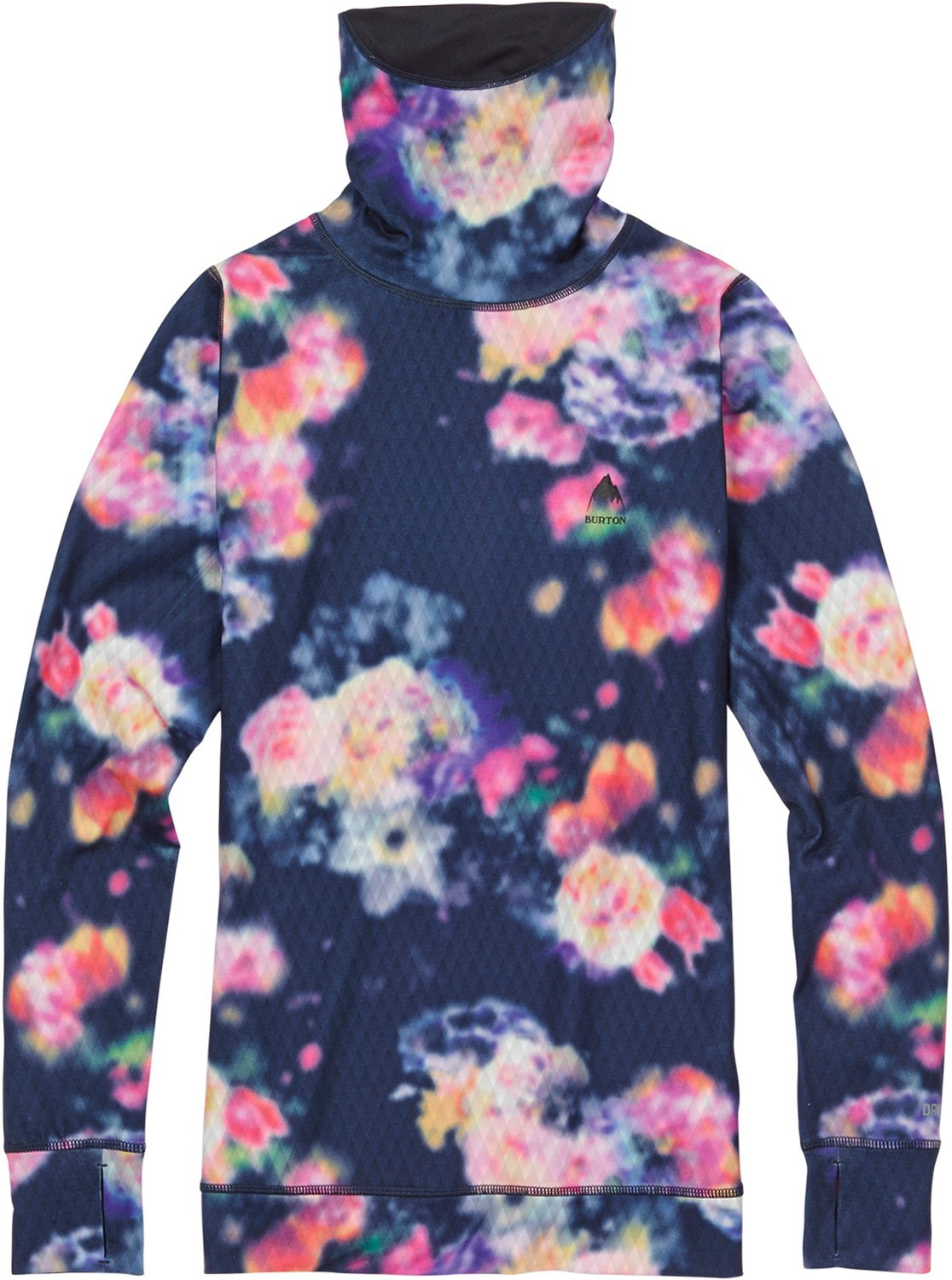 Burton Women's Midweight Long Neck Tops, Prism Floral, Small