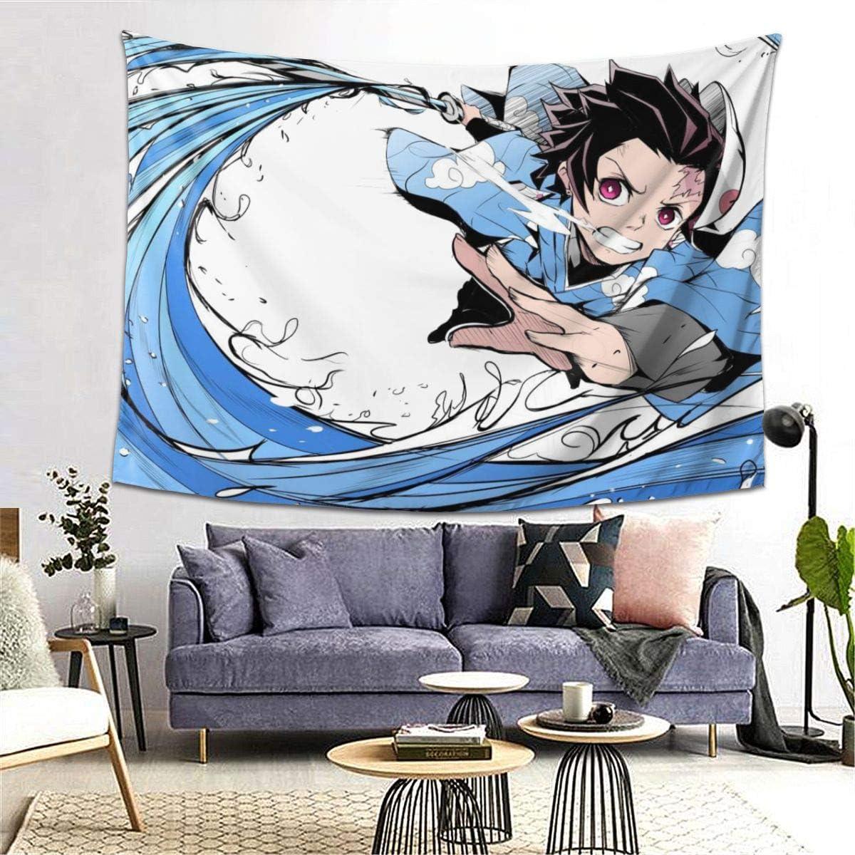 Yagi Mika Tanjiro Kimetsu-No-Yaiba Tapestry Wall Art Hanging Home Decor Blanket 80×60 in