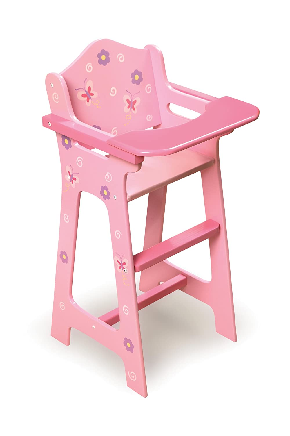 Amazon.com: Badger Basket Blossoms And Butterflies Doll High Chair (fits  American Girl Dolls): Toys U0026 Games