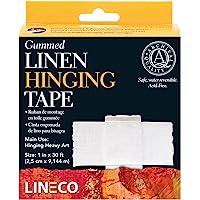 Lineco L533-1025 Gummed Linen Tape 1In X 30Ft, White