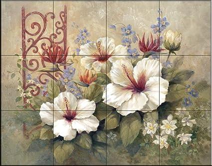 Murale di piastrelle di ceramica pergamena in ferro i di vivian