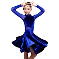 GD3102 Kid Latin Ballroom Dance Professional Competition/Race/Performance Dress for Girl (net Yarn and Velvet Splicing…