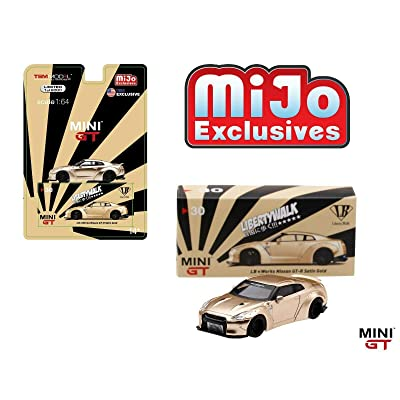 Mini GT Liberty Walk Works Sora Nissan GT-R R35 Type I Zero (Satin Gold) U.S.A. Limited Edition to 6,000 Pieces 1/64 Diecast Model Car by True Scale Miniatures MGT00030: Toys & Games