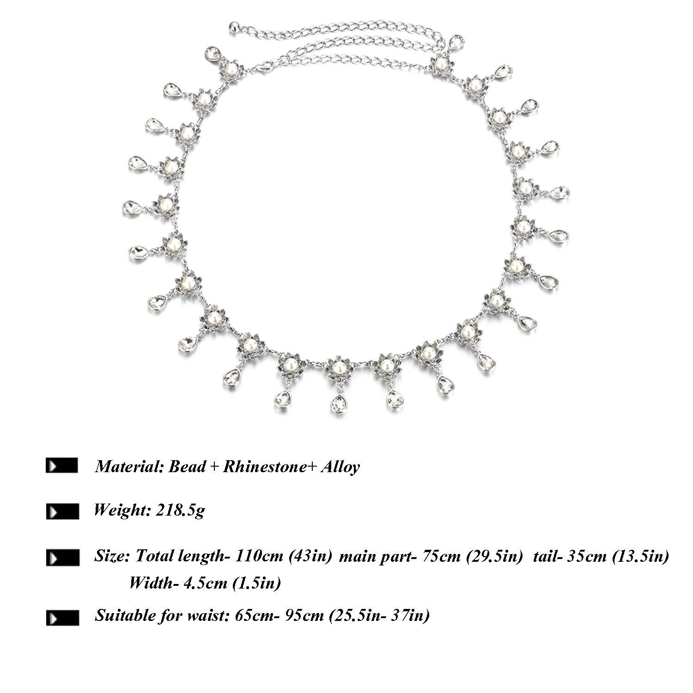 ZSZBACE Women Belly Chains for Belly Dance- Tassel Chain- Waist Chain Belt by ZSZBACE (Image #6)
