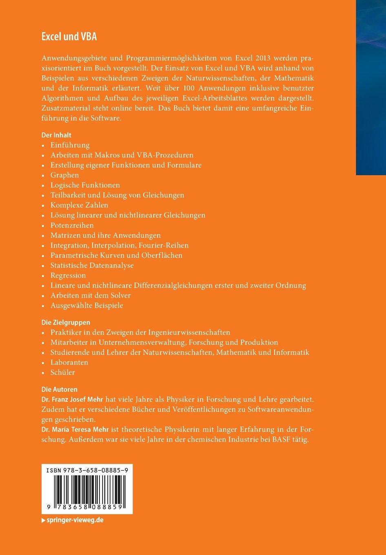 Excel und VBA: Einführung mit praktischen Anwendungen in den ...