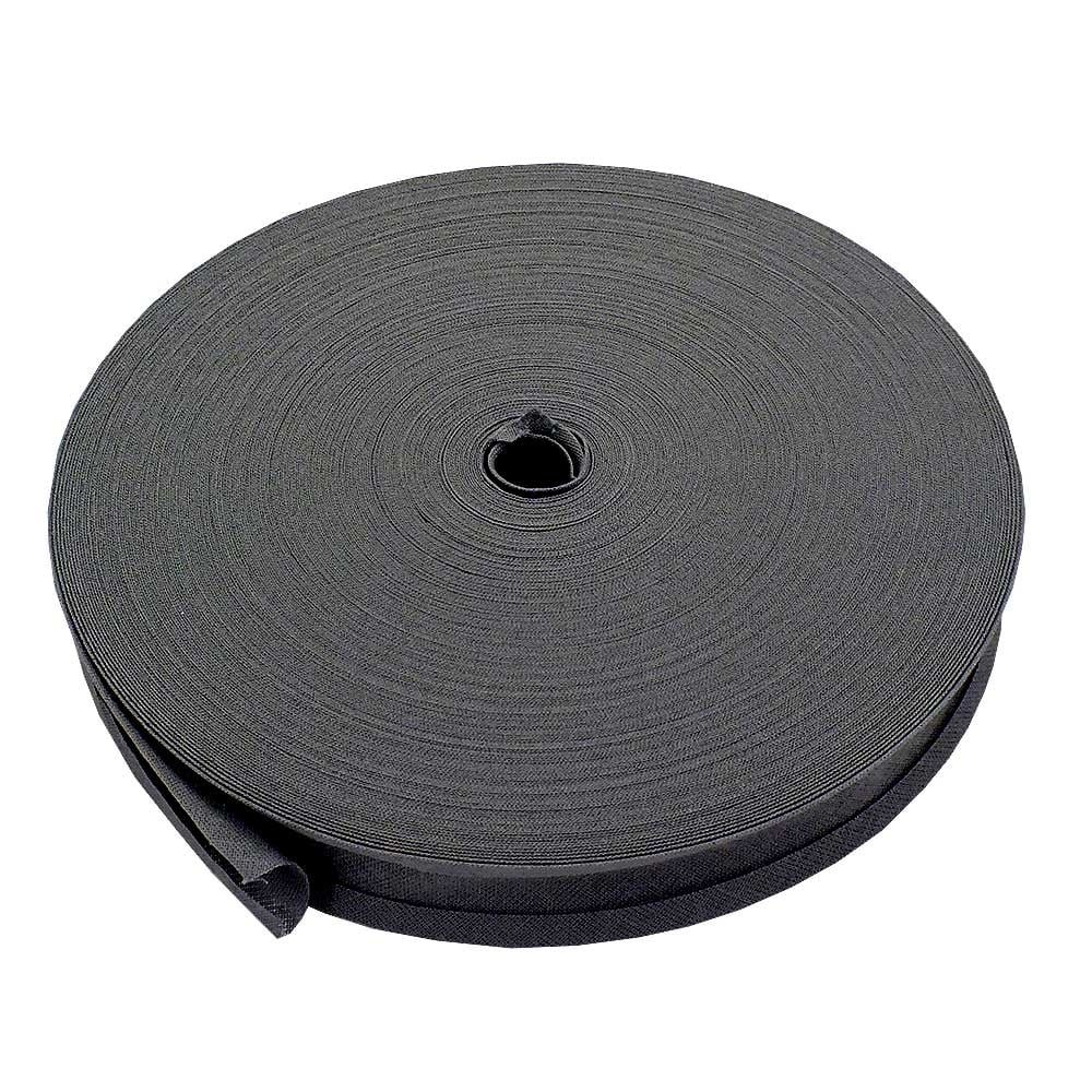 25mm Bias Binding Tape Trim 100% Cotton - Silver - 5m The Bead Shop