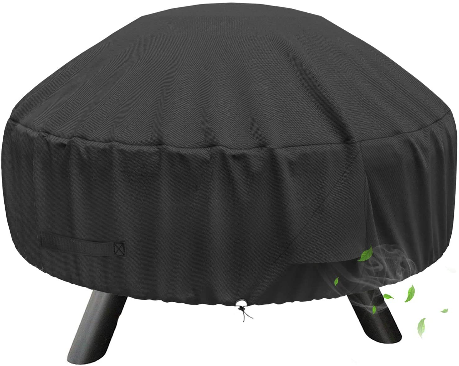 Shinestar 30 Inch Round Fire Pit Cover For 28 32 Inch Round Fire Pit Heavy Duty Waterproof Fire Bowl Cover All Season Protection 32 Dia X 13 5 H Garden Outdoor Amazon Com