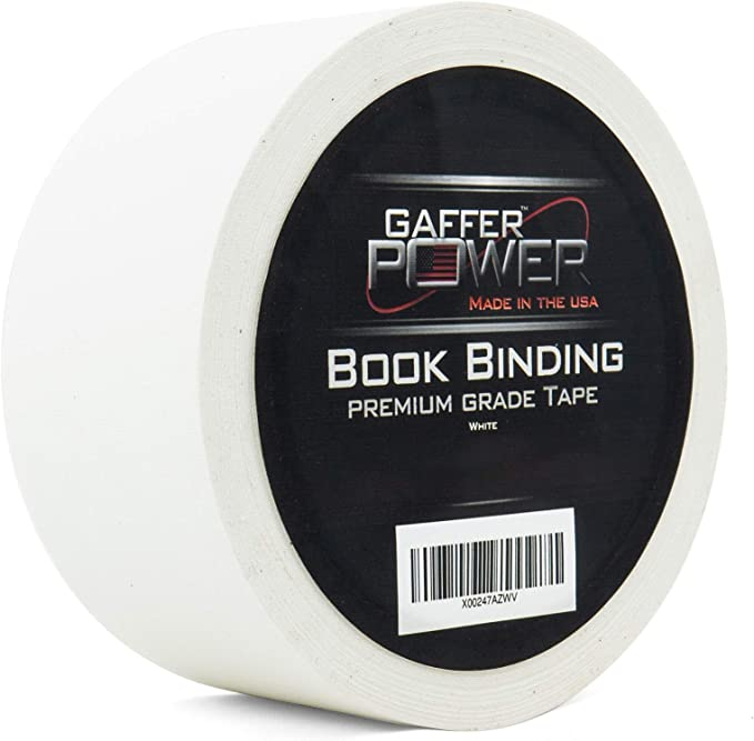 Acid Free and Archival Safe Black Cloth Book Repair Tape Safe Cloth Library Book Hinging Repair Tape Bookbinding Tape by Gaffer Power 2 X 15 Yards Made in The USA