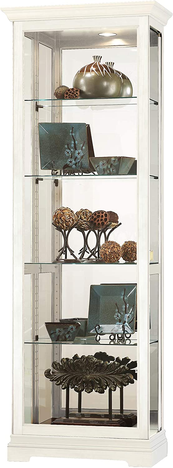 Howard Miller Brantley IV Curio Display Cabinet, Aged Linen