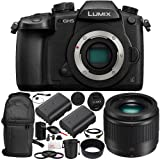 Panasonic Lumix DC-GH5 Mirrorless Micro Four Thirds Digital Camera & LUMIX G 25mm f/1.7 Lens 15PC Bundle. Includes Manufacturer Accessories + 2 Replacement BLF19 Batteries + AC/DC Rapid Home & Travel Charger + 3PC Filter Kit (UV+CPL+FLD) + MORE