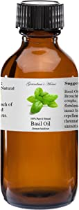 Basil Essential Oil - 2 fl oz -100% Pure and Natural - Therapeutic Grade - Grandma's Home