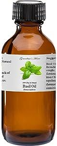 Basil Essential Oil 4 oz 100% Pure and Natural Therapeutic Grade Grandma's Home