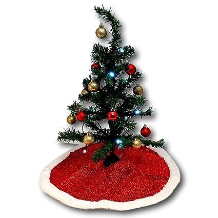 christmas house miniature christmas tree bundle with tree skirt 2 sets of shatter proof