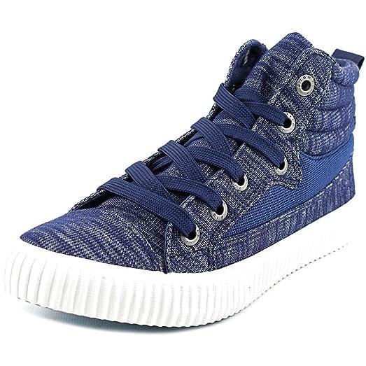 Blowfish Crawler Women Canvas Blue Fashion Sneakers,7.5 B(M) US,Indigo