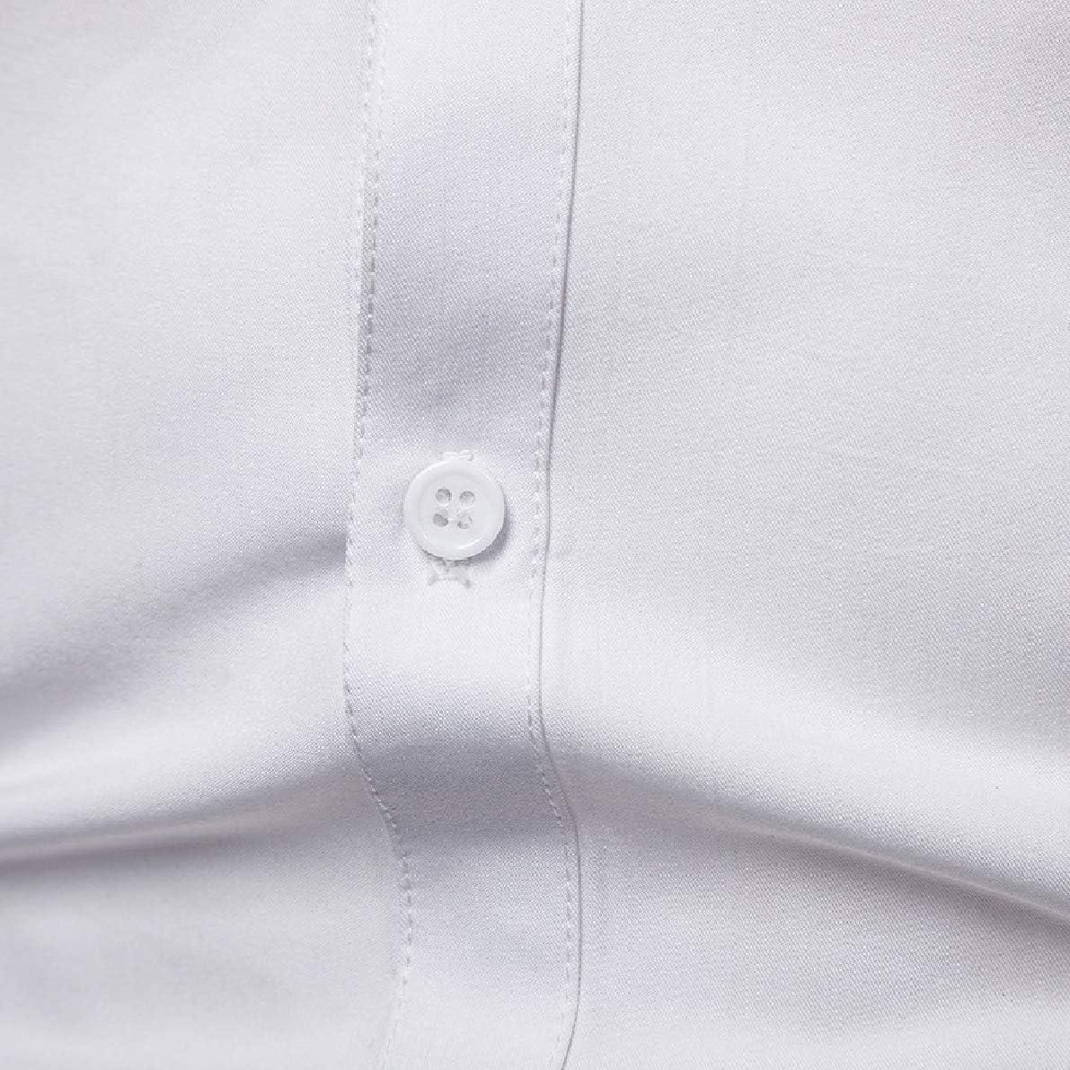 Winwinus Men Plus Size Premium Sequins Single-Breasted Work Shirt