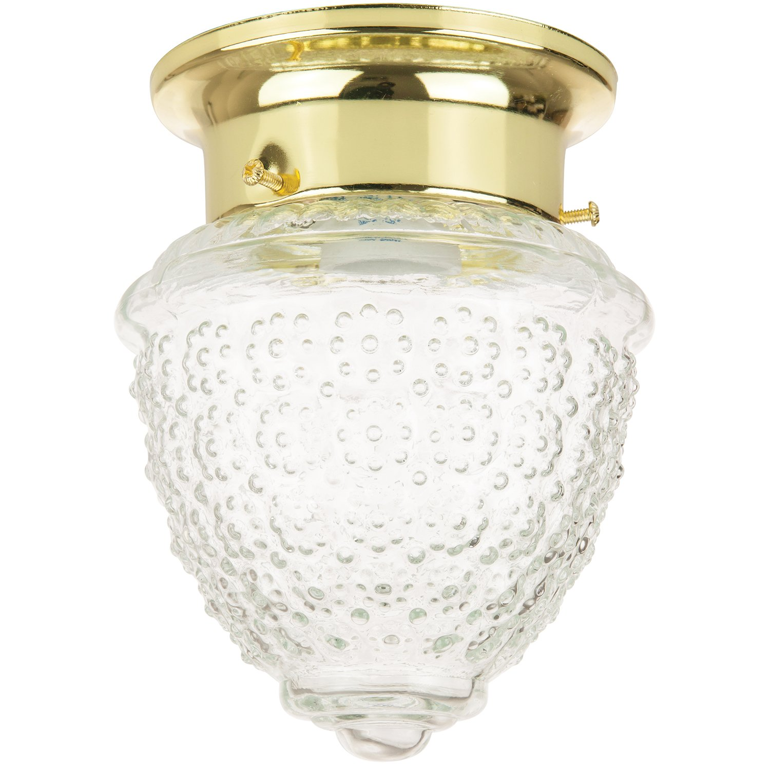 Sunlite pin3 4 3 5 inch pineapple ceiling fixture polished brass