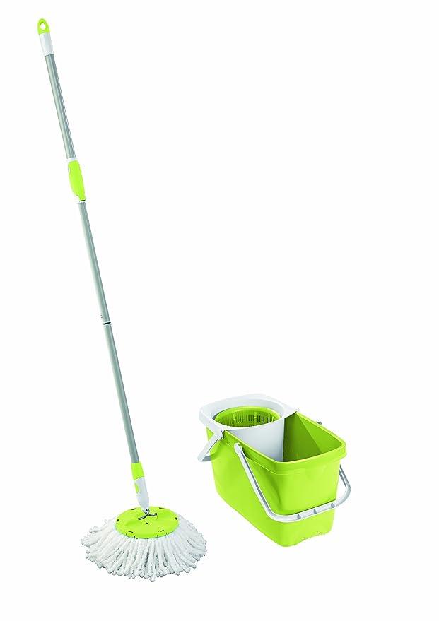 1 opinioni per Leifheit Clean Twist Mop Set, 3-tlg., Mocio, Secchio Universale & Inserto
