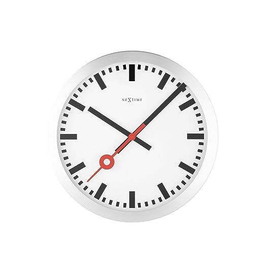 2 opinioni per Nextime Station, orologio da parete senza numeri, con lancette silenziose,