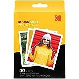 Kodak 3.5x4.25 inch Premium Zink Print Photo Paper (40 Sheets) Compatible with Kodak Smile Classic Instant Camera