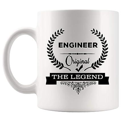 buy popular c6e9d 8d547 Original Legend Engineer Mug Best Coffee Cup Mugs Gift Perfect Proud Best  Ever Superpower   Funny