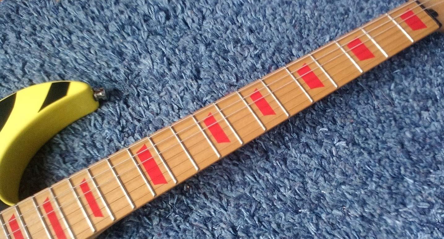 Block LP Trapezoid Fret Markers Inlay Stickers pegatinas Guitar /& Bass Diapason plata