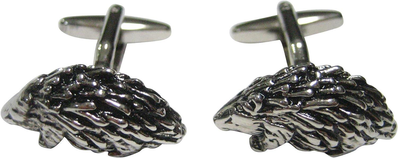 Kiola Designs Silver Toned Porcupine Cufflinks