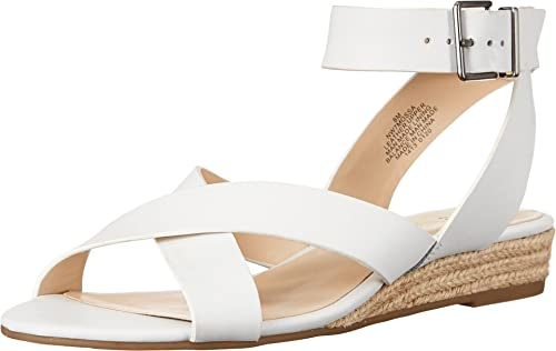 Nine West Women's Mossa Leather Wedge Sandal