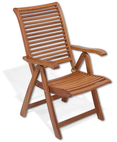 Sillón plegable de madera con reposabrazos Mod.Mimosa, silla ...