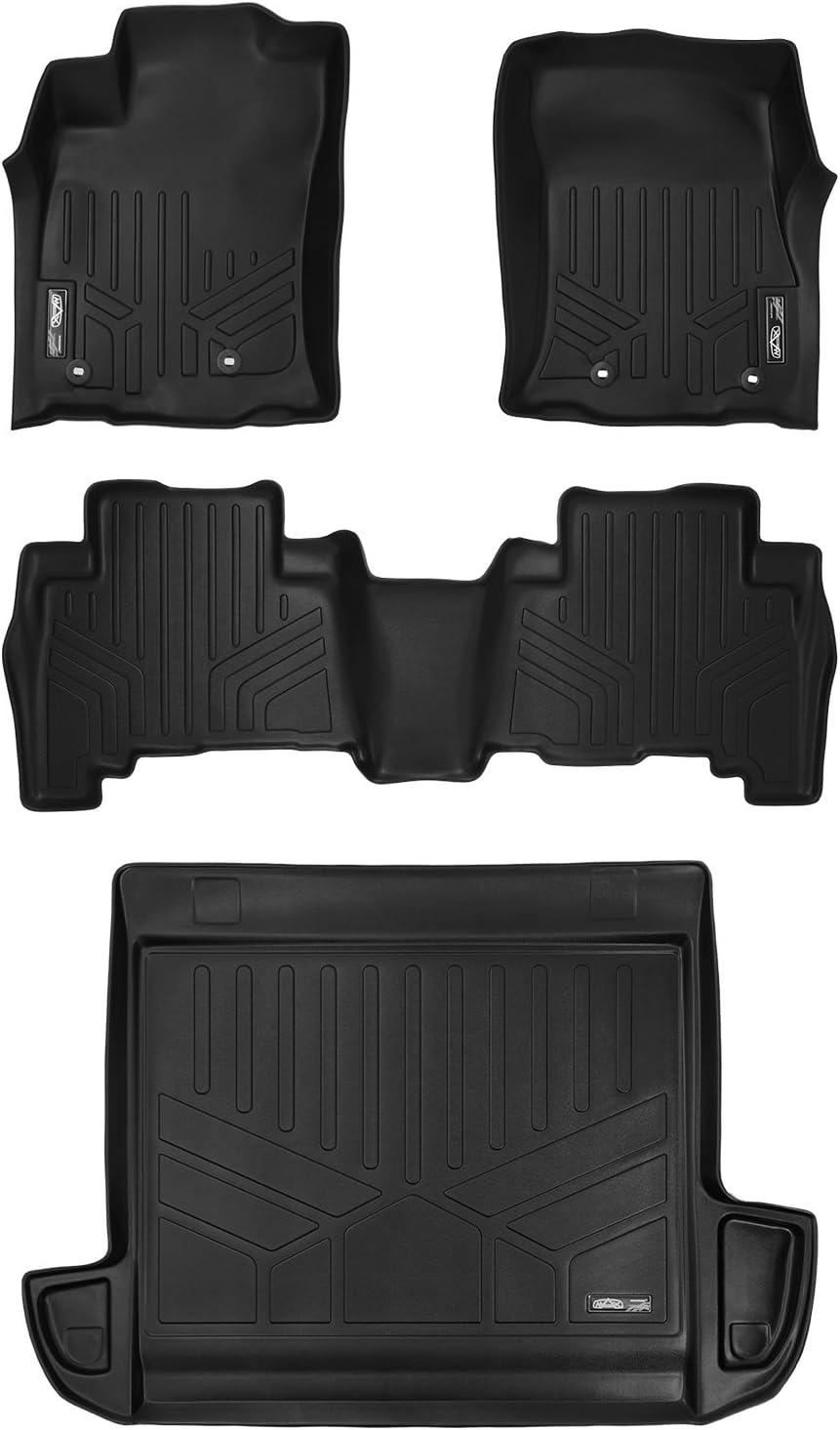 MAX LINER Floor Mats and Cargo Liner Set Black for 2013-2018 Toyota 4Runner 5 Passenger Model