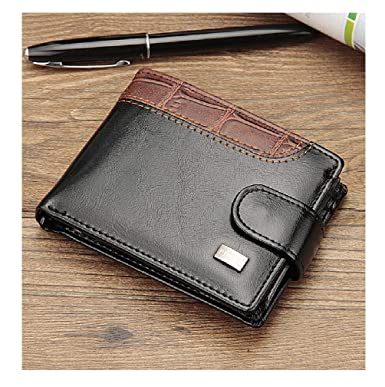 8885693c53c9 Baellerry Patchwork Leather Men Wallets Short Male Purse With Coin Pocket  Card Holder Brand Trifold Wallet