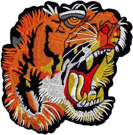 Parche bordado con cabeza de tigre para coser en la ropa, bolsa ...