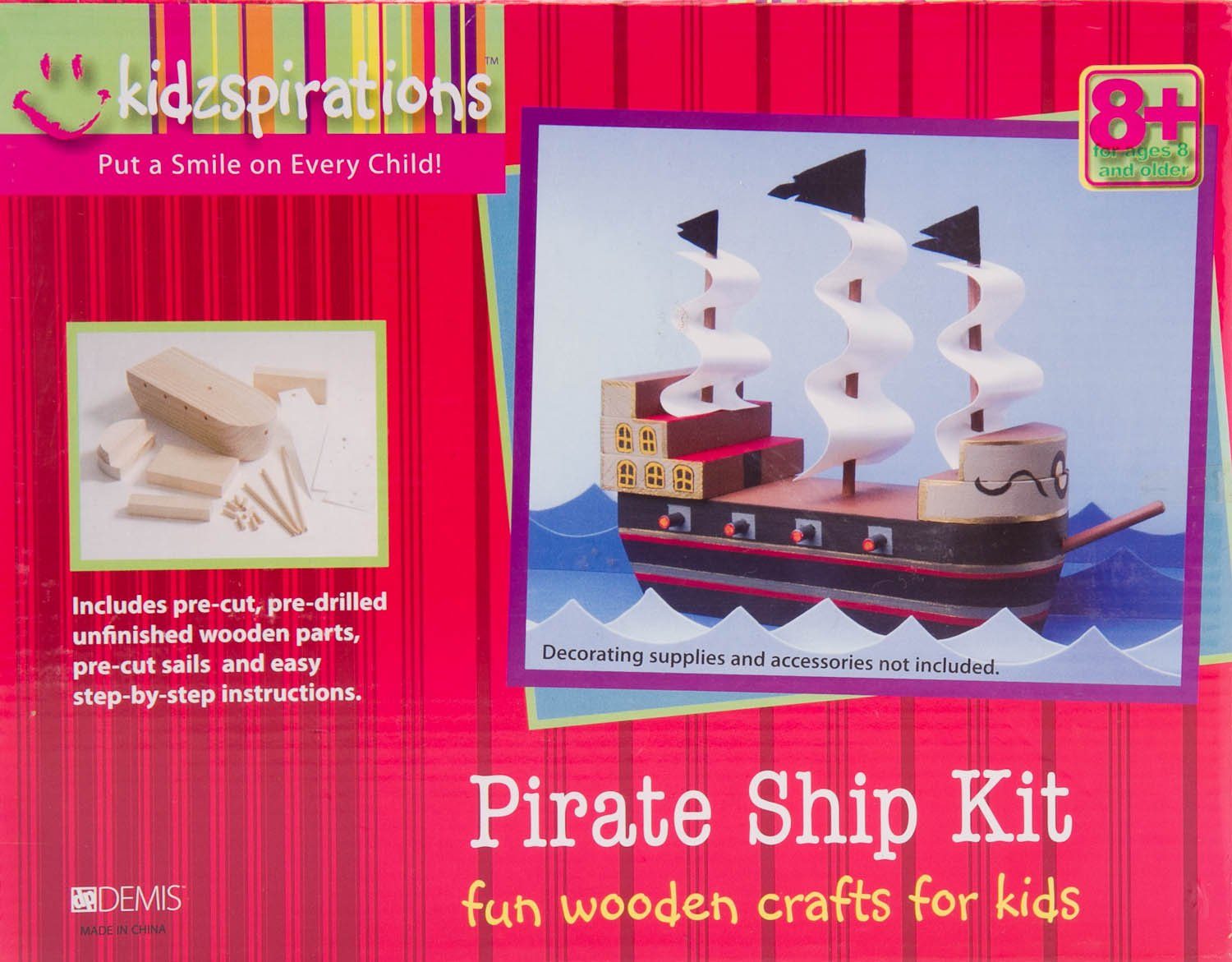 Amazon.com: kidzpirations Barco Pirata Kit: Toys & Games