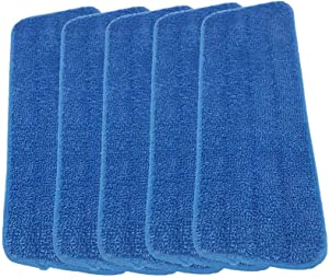 Microfiber Spray Mop Replacement Heads for Wet Dry Mops Compatible With Bona Floor Care System (5 Pack)