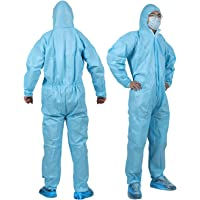YIBER Disposable Protective Isolation Suit 5 PCS/PACK (XXL, Blue)