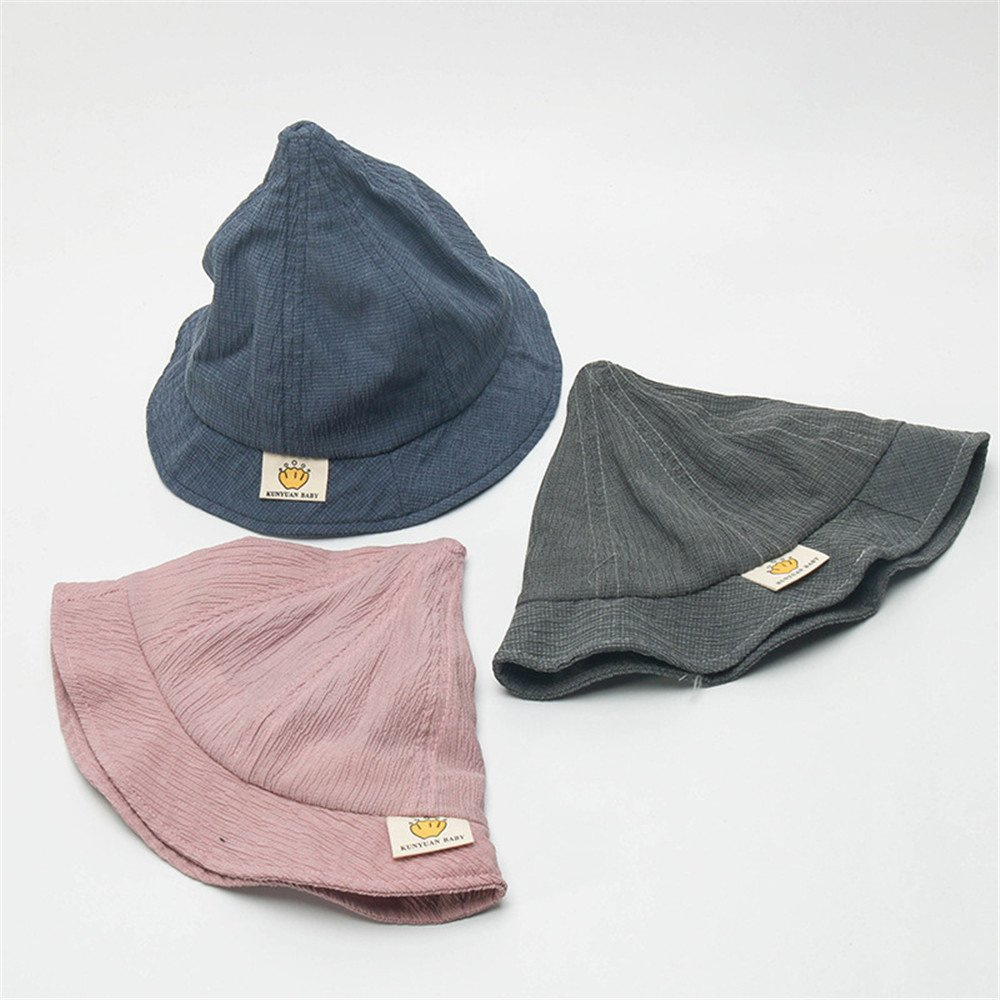 DoMii Baby Boy Girl Cotton Hat Breathable Thin Wrinkled Fashion Hat