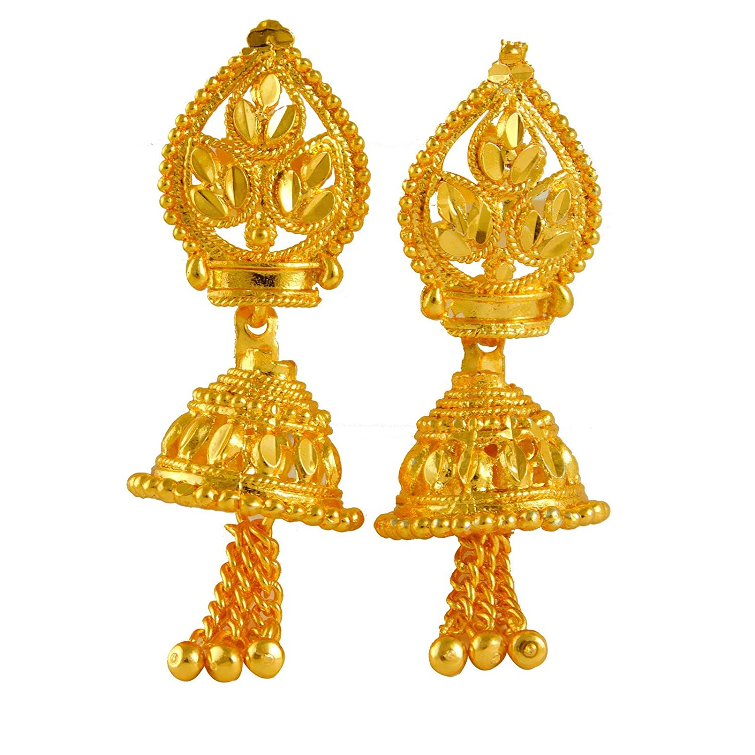 ShoppingHUB Get Closer Indian Traditional Goldplated Jhumka Jhumki Bridal Earrings Fashion Jewelry
