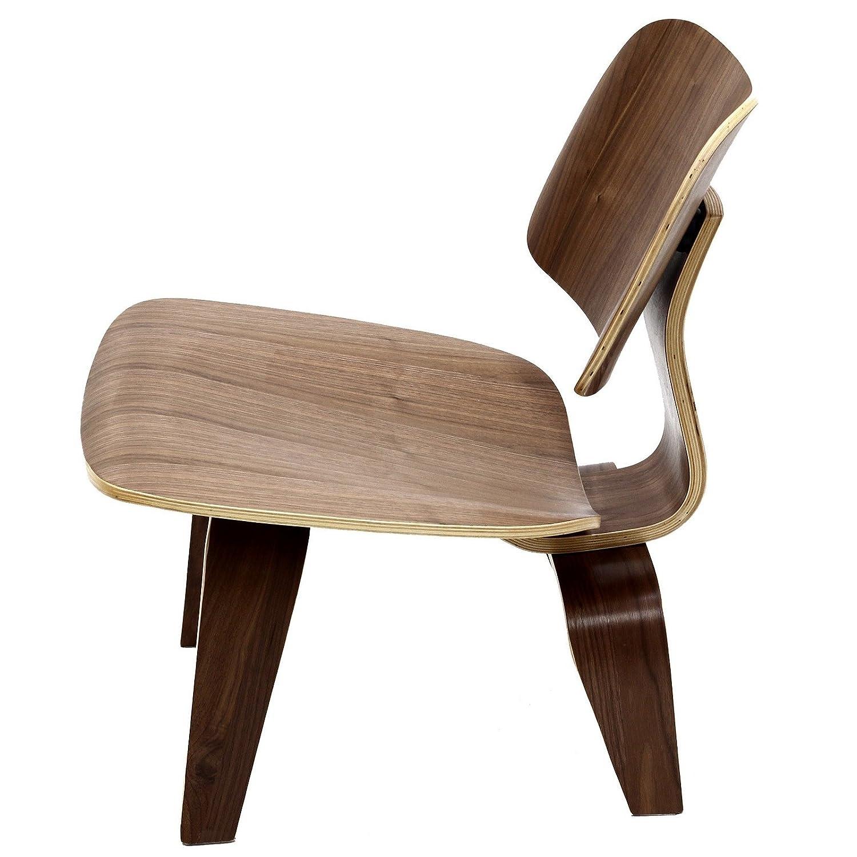 modway fathom plywood lounge chair in walnut amazon ca home kitchen