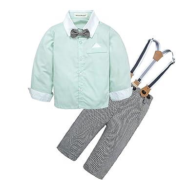 bfe897ef1 Amazon.com: BIG ELEPHANT Baby Boys' 2 Pieces Gentle Suspender Pants ...