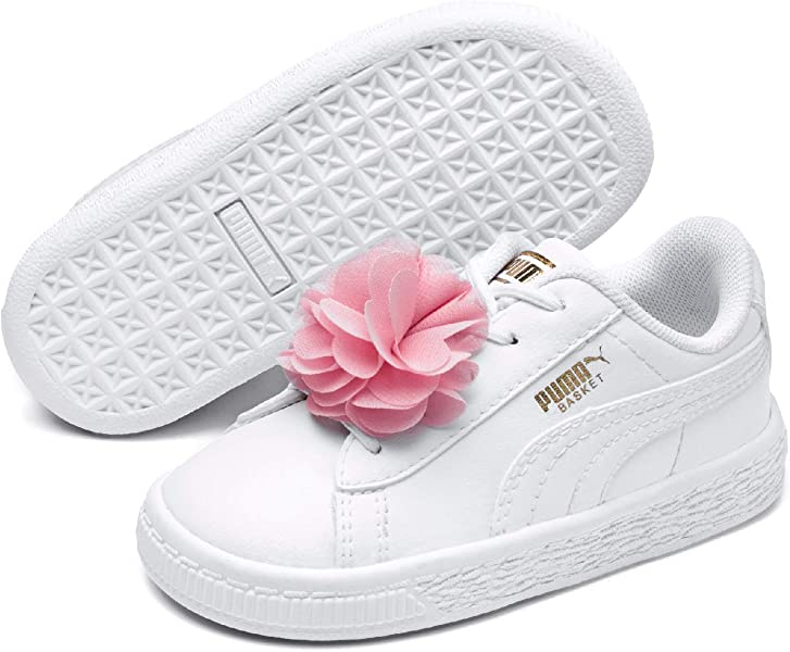 Scarpe bimba Puma 366848 02 basket heart bling bianco argento pelle | eBay