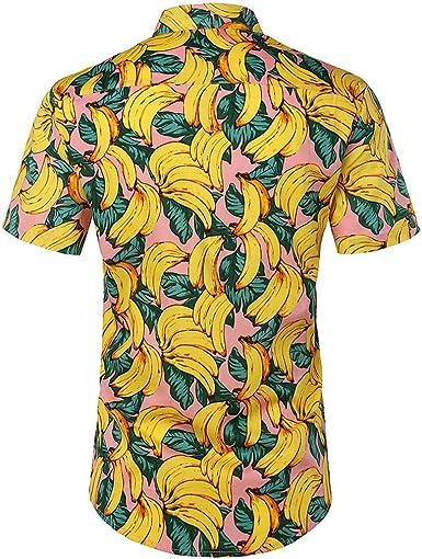 Camisa Hawaiana para Hombre Mujer Casual Manga Corta Camisas Playa Estampado de Frutas Verano Unisex 3D Estampada Funny Hawaii Shirt S-XXL riou: Amazon.es: Ropa y accesorios