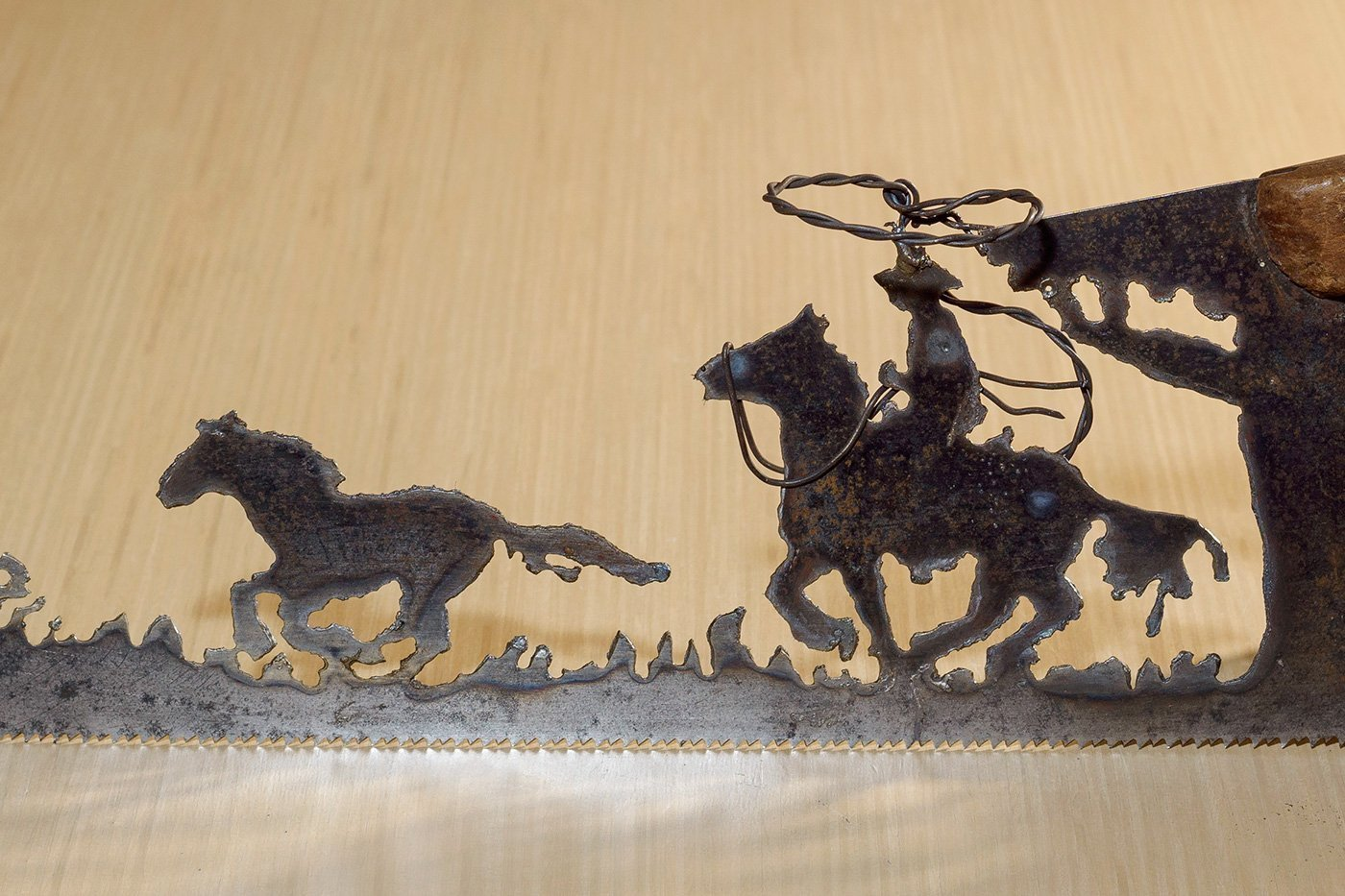 Amazon.com: Metal Art Cowboy or Cowgirl Roper and pony design - Hand ...