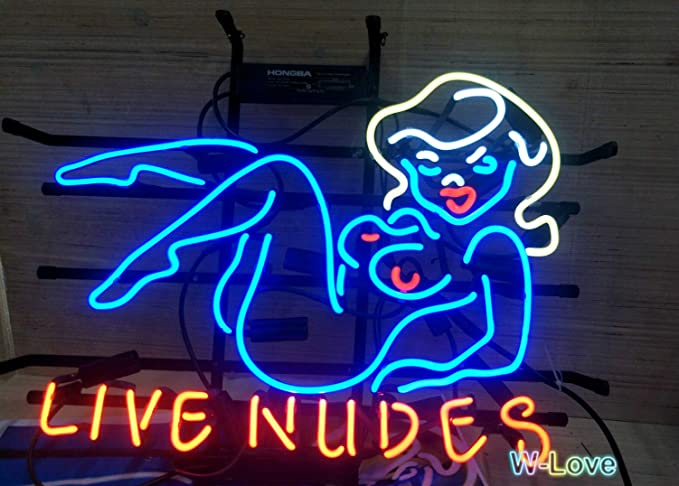 Mirsne Neon Signs Glass Tube Neon Lights 19 By 15 Inch Live Nudes Neon Signs Bar The Best Neon Sign Custom Supplied For A Wide Range Of Personal