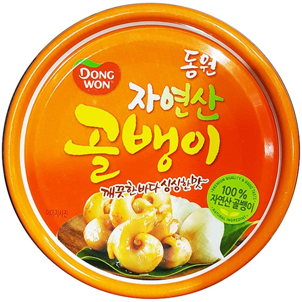 Dongwon Natural Bai-Top Shell in Can 140g (Pack of 8) by Dongwon