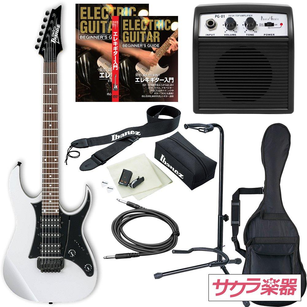 Ibanez アイバニーズ エレキギター GIO Ibanez GRG150B/WH ギター入門ミニアンプセット B01BEXTD7W ホワイト ホワイト