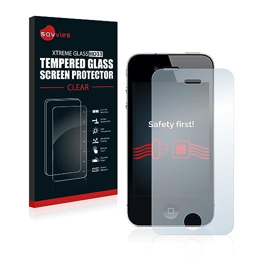 3 opinioni per Savvies Schermo Vetro Apple iPhone 4 / 4S Pellicola Vetro Temperato, Vetro