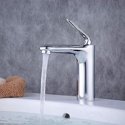 BL6772 poign/ée simple Polonais Chrome salle de bain Robinet mitigeur monobloc en laiton massif