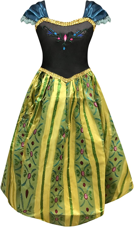 Rifiuto Furfante Riflessione  Ice Queen Princess Anna Inspired Coronation Day Dress Girls Fancy Dress  Costume: Amazon.co.uk: Clothing