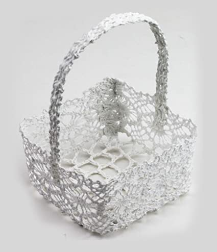 Amazoncom Mini Lace Favor Baskets Set Of 6 Square 275x275 X175