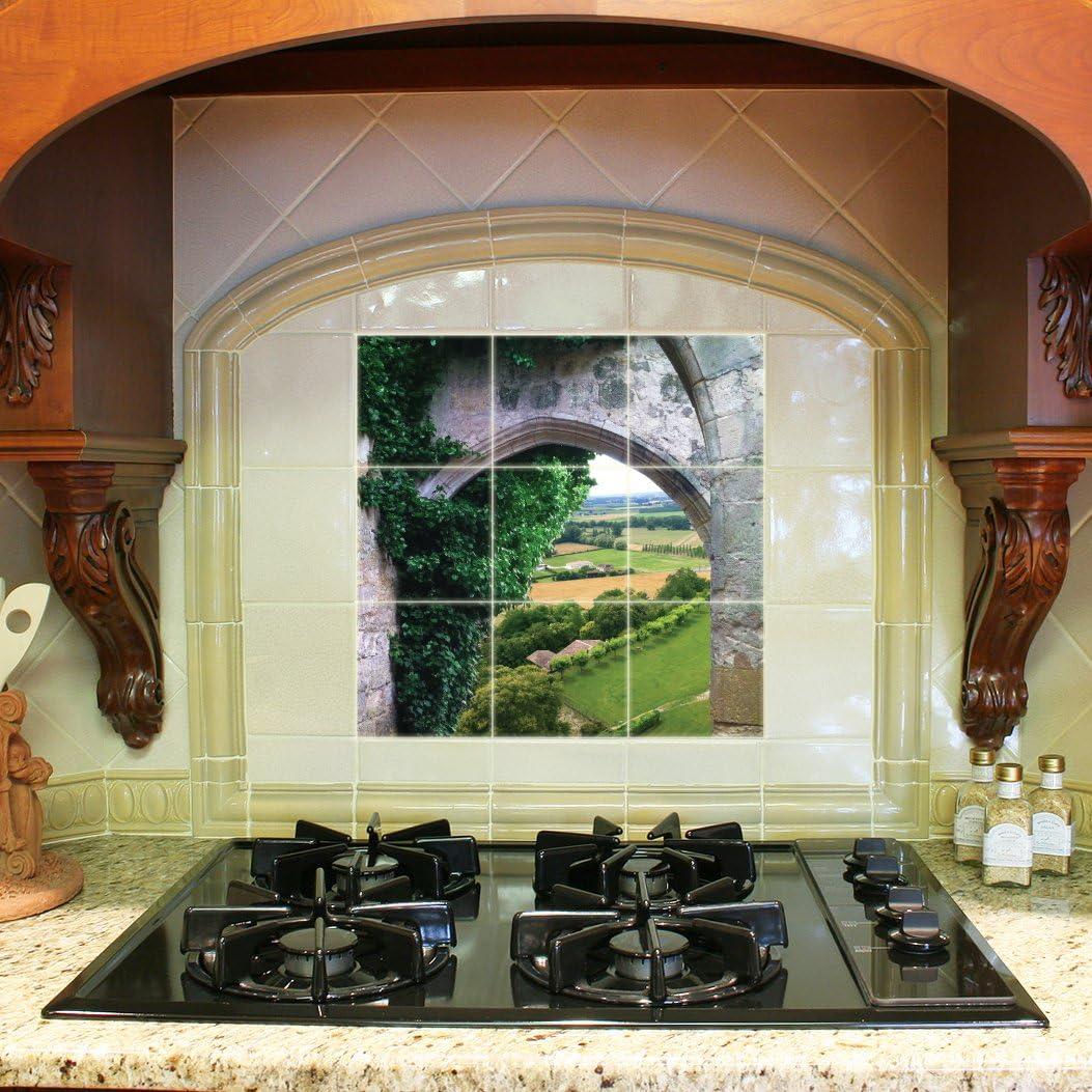 - Kitchen Backsplash Ceramic Tile - French Countryside - Nine 4.25