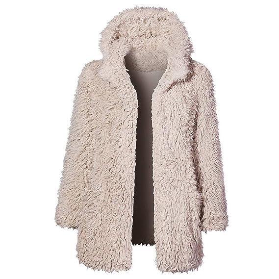 Piebo 2018 Invierno Mujer Moda Suelto Calentar Color sólido Manga Larga Sudadera con Capucha Outwear Abrigo Informal Tops Blusa: Amazon.es: Ropa y ...